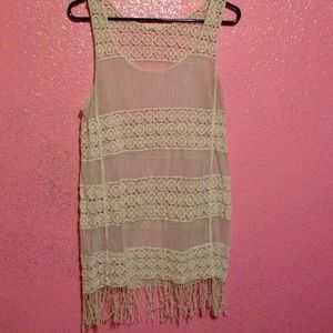 Lace see through tunic