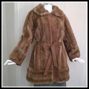 VINTAGE Lilli Ann Faux Fur & Real Suede Jacket EUC