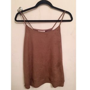 Tops - ✨ NWT double layer faux suede tank ✨
