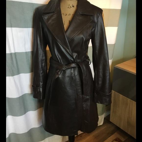 Centigrade Leather - 🍒 100% Leather Dark Brown Car Length Coat
