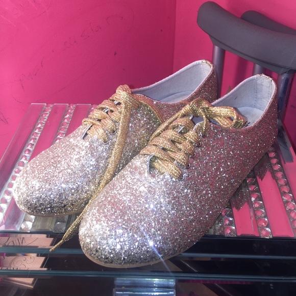 Source https   poshmark.com listing gold-sparkly-sweet-16-flats -56b6af1fd14d7b49990108c2 d30e421c36