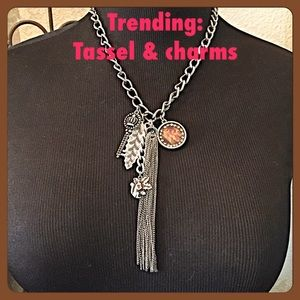 IEC Jewelry - 30% OFF BUNDLES🍂Necklace w/tassel and charms🍂