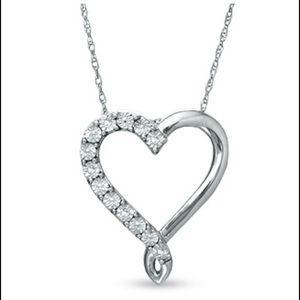 Zales Jewelry - Heart loop Necklace