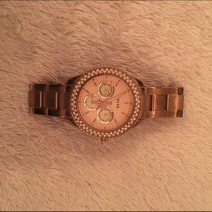 Rose Gold Fossil Watch!