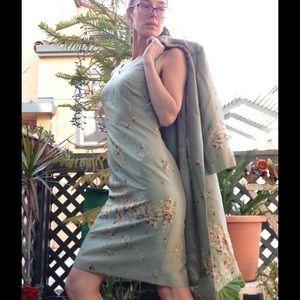 Kay Unger Dresses & Skirts - Kay Unger Mint Green Silk Jacket Dress Wedding Set