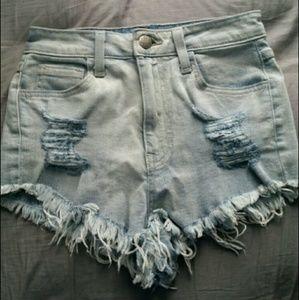 Cheeky high-waisted shorts
