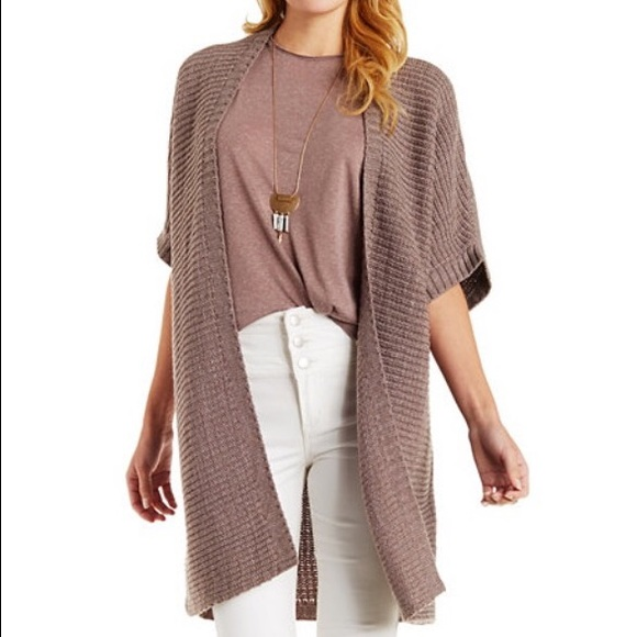 7% off Charlotte Russe Sweaters - Short sleeve duster cardigan ...
