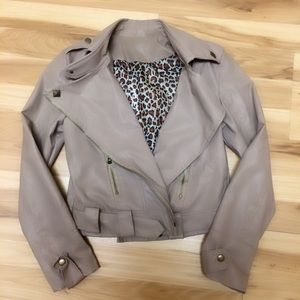 Jackets & Blazers - 🚫SOLD🚫 Cream Studded Faux Leather Jacket