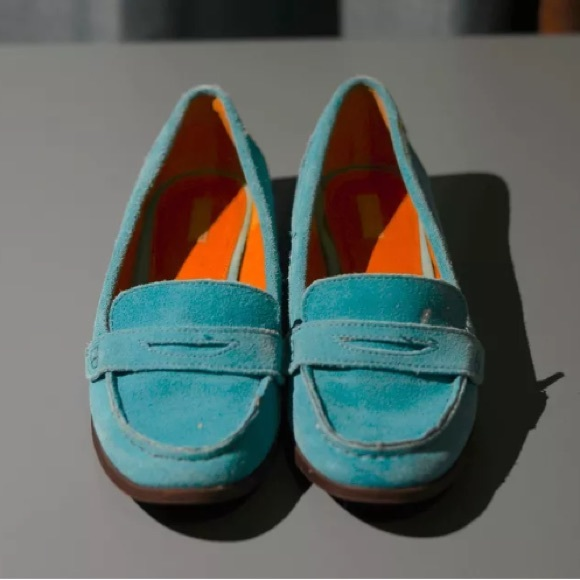 70% off Cooperative Shoes - Cooperative turquoise suede ...