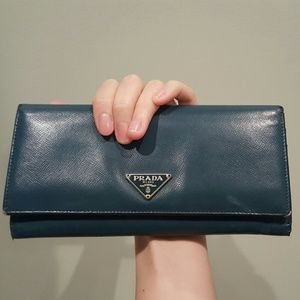46% off Prada Handbags - prada patent leather wallet from ...