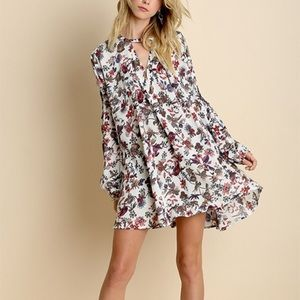 Floral Trapeze Vintage Redux Dress