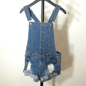 Forever 21 Shorts - Forever 21 Distressed Shortalls Small