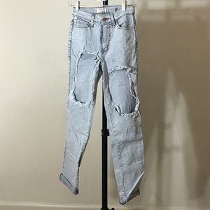 Nasty Gal Pants - Nasty Gal Distressed Denim