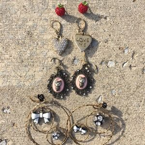 Betsy Johnson Bundle of earrings