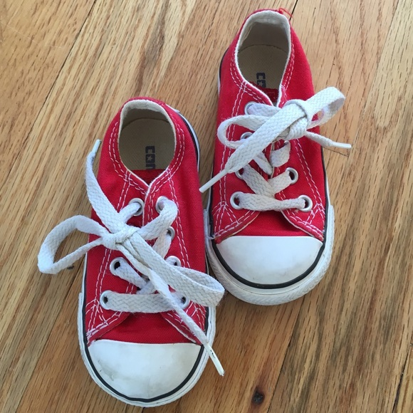 9e0f096f695496 Converse Other - Red toddler converse all star size 5