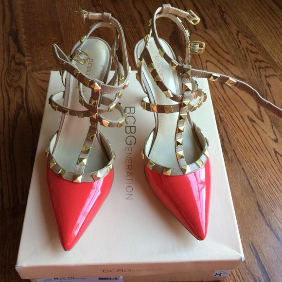 f7cbecb46 BCBG Passion Adobe Valentino Like Heels. Sz 8.5. M_56b75592c6c795beab00114a