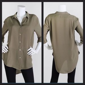 Olive Hi/Low Blouse