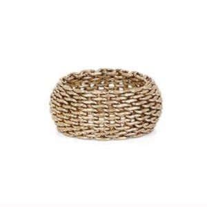 BCBGMaxAzria Jewelry - Luxe texture defines this alluring mesh-style ring