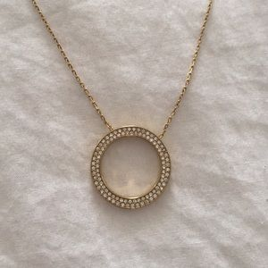 Michael Kors circle pendant necklace