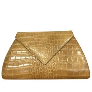 Real leather embossed crocodile purse/clutch