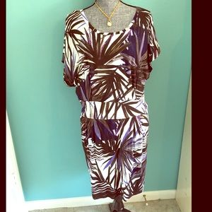 Charming Charlie Tops - Stunning Stretch Dress or Tunic Top brown purple