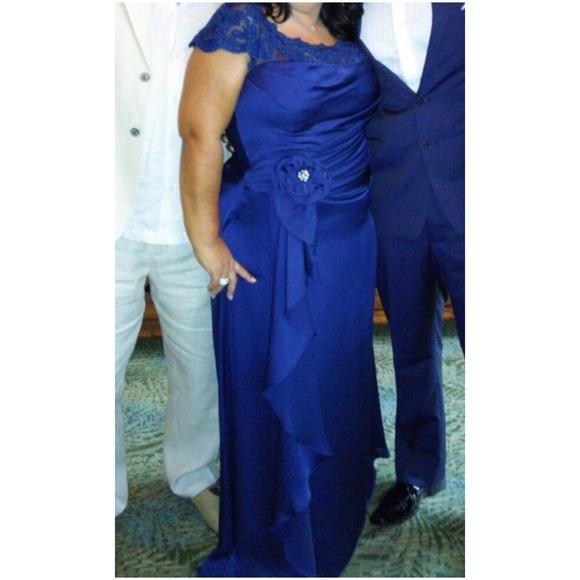Jade Couture Dresses | Cobalt Blue Evening Gown | Poshmark