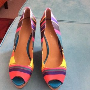 Multicolor wedge Nine West. Size 9.5
