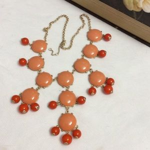 Original J.Crew orange bubble gold necklace new