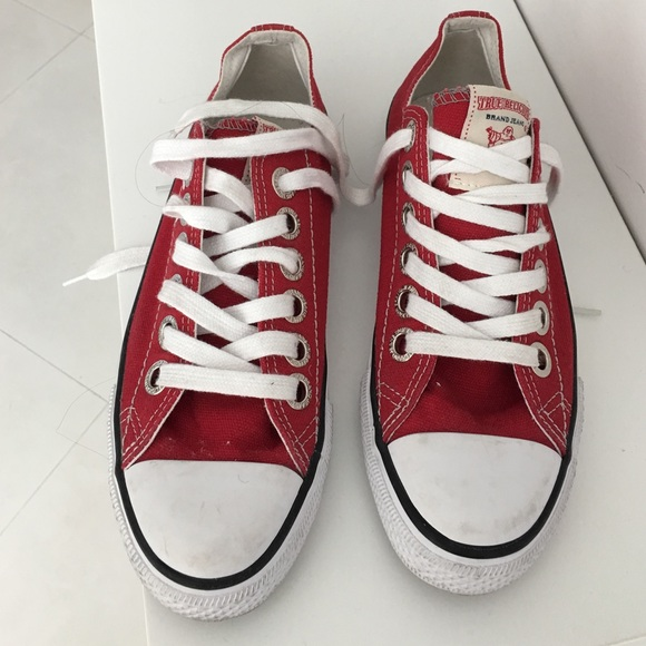 Red True Religion Sneakers Worn Once