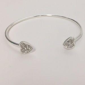 Jewelry - Rhinestone Heart Cuff 💕NWOT