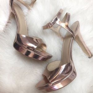 Rose Gold Via Spiga Heels