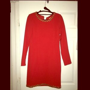 Red Michael Kors Dress, Size 0