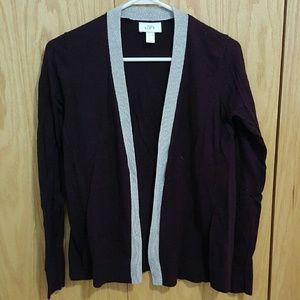 LOFT Sweaters - Plum Cardigan