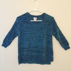 Sweaters - Blue Marled Sweater