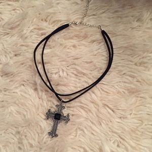 Ornate cross choker