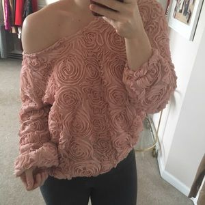 Look Book store  Tops - Rosette off the shoulder top
