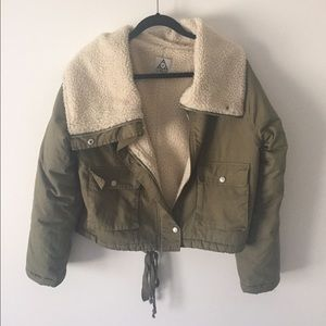 Unif faux Sherpa bomber jacket