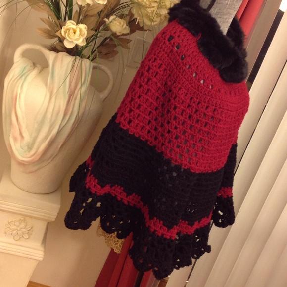 "11% off handmade Sweaters - NEW ""THE MICHELLE"" HANDMADE FUR COLLAR ..."