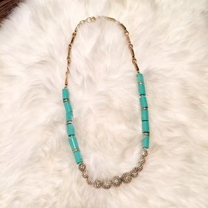 JCrew Mint Enamel Necklace