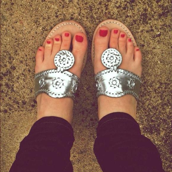 dd8617220 Jack Rogers Shoes - Silver Jack Rogers Navajo Sandals
