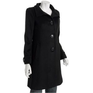 NWOT Michael Kors Standing Collar Black Coat