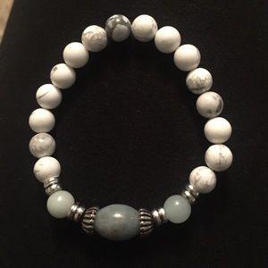 Amazonite and Howlite Goddess bracelet