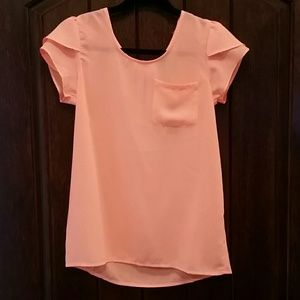 NWT Neon peach blouse