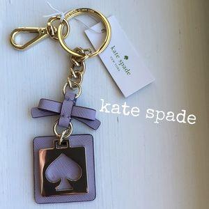 "kate spade Accessories - ""kate spade"" Cut Out Spade Keychain~NWT"