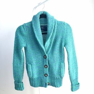 Like NEW American Eagle teal green cardigan