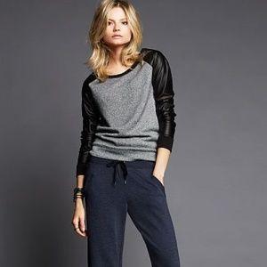 Victoria's Secret Faux Leather Long Sleeve Top