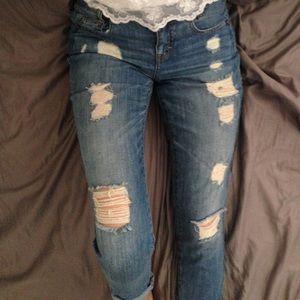 BCBG Denim - BCBG Distressed Boyfriend Jeans