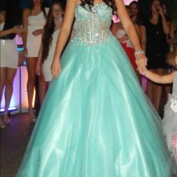 Jovani Dresses | Aqua Princessball Gown | Poshmark