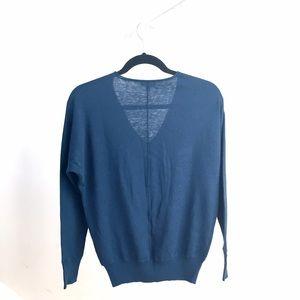 GAP Sweaters - Like NEW Gap fine knit v-neck deep blue sweater