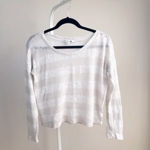 NEW Forever21 light stripe casual open knit top